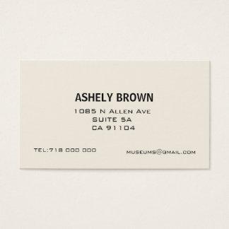 Cartão de visita de chamada minimalista de Ecru