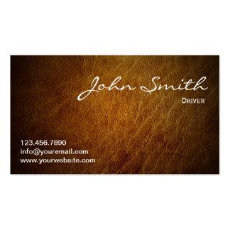 Cartão de visita de couro elegante do motorista de