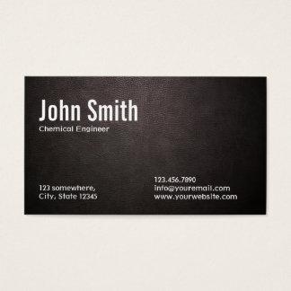Cartão de visita de couro escuro do engenheiro