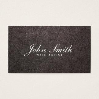Cartão de visita de couro escuro elegante da arte