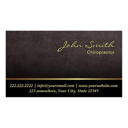 Cartão de visita de couro mais escuro do Chiroprac