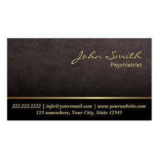 Cartão de visita de couro mais escuro do psiquiatr