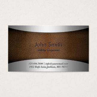 Cartão de visita de couro moderno do engenheiro de