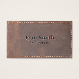 Cartão de visita de couro Sewed vintage da arte do