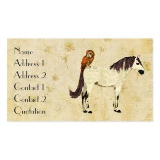 Cartão de visita de creme violeta do cavalo da