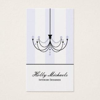 Cartão de visita de cristal do candelabro