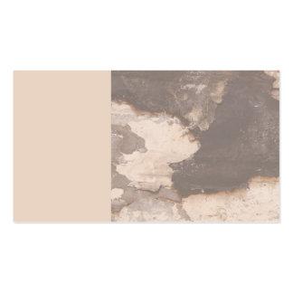 cartão de visita de dano da podridão seca
