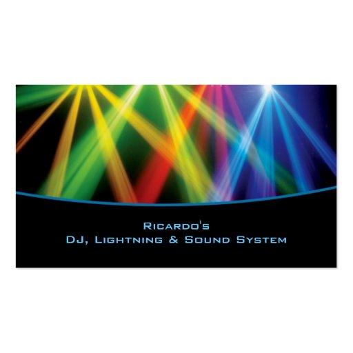 Cartão de visita de DJ/Musical Empresa