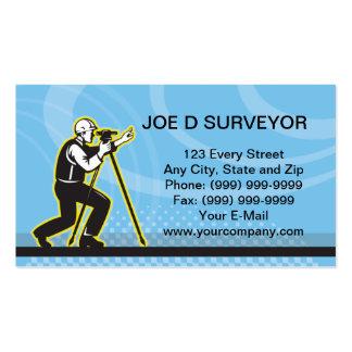 Cartão de visita de exame do técnico do topógrafo