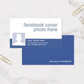 Cartão de visita de Facebook CC0213