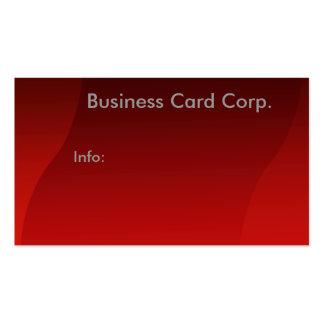 Cartão de visita de fluxo vermelho