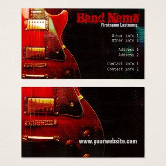 """Cartão de visita de """"GrungeRed"""" da GUITARRA"""