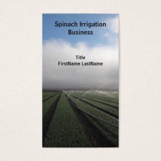 Cartão de visita de irrigação da foto das