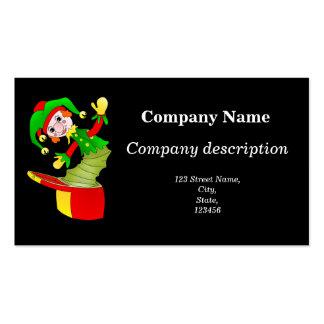 Cartão de visita de Jack in the Box dos desenhos a