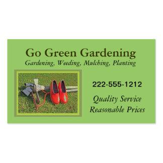 Cartão de visita de jardinagem com as ferramentas