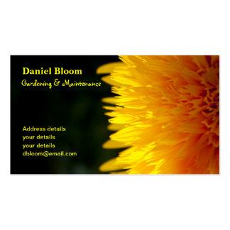 Cartão de visita de jardinagem dos serviços