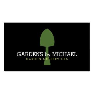 Cartão de visita de jardinagem dos serviços da pá