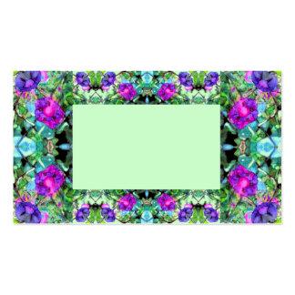 Cartão de visita de jardinagem florido 4 das