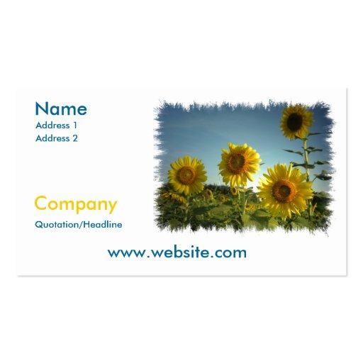 Cartão de visita de jardinagem orgânico