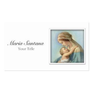 Cartão de visita de Jesus da Virgem Maria e do beb
