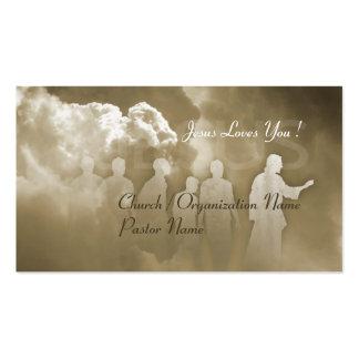 Cartão de visita de Jusus da igreja cristã