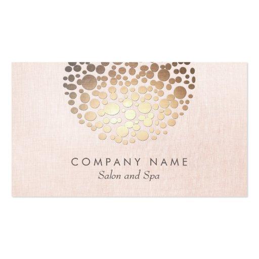 Cartão de visita de linho cor-de-rosa do olhar do