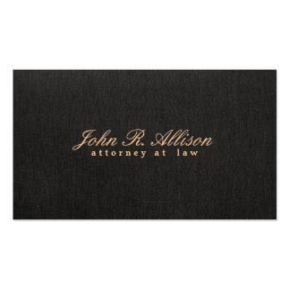 Cartão de visita de linho do advogado do falso