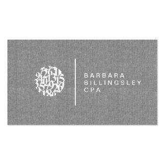 Cartão de visita de linho do contador do logotipo