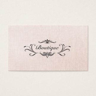 Cartão de visita de linho do falso do rosa do