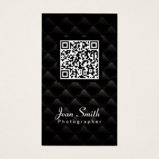 Cartão de visita de luxe do fotógrafo do código de