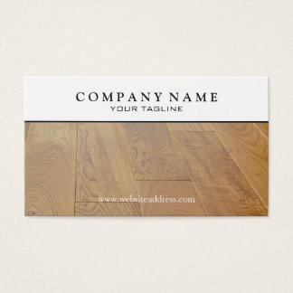 Cartão de visita de madeira do assoalho de parquet