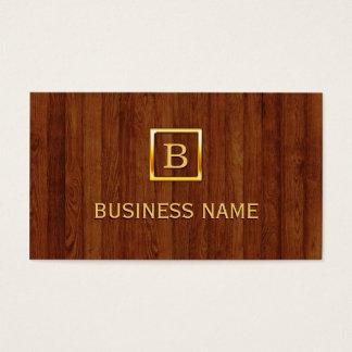 Cartão de visita de madeira do Beautician do