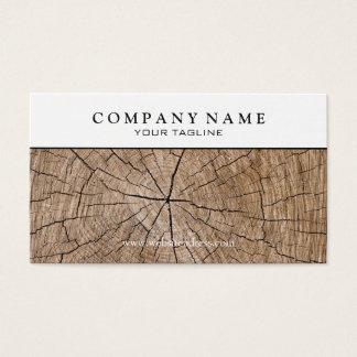 Cartão de visita de madeira do coto