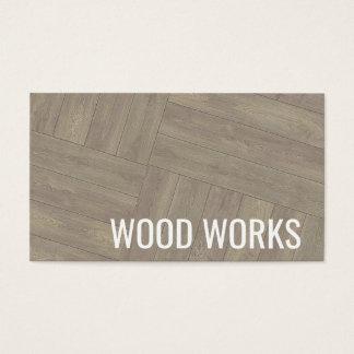 Cartão de visita de madeira do design do teste