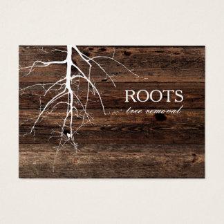 Cartão de visita de madeira do fundo do conselho