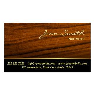 Cartão de visita de madeira elegante da arte do pr