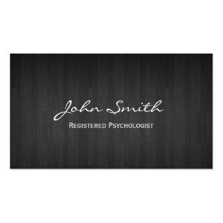 Cartão de visita de madeira escuro elegante do psi