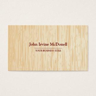 Cartão de visita de madeira leve da textura