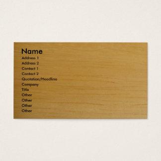 Cartão de visita de madeira louro