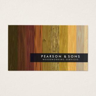 Cartão de visita de madeira múltiplo da textura do