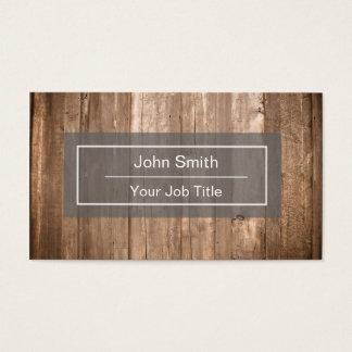 Cartão de visita de madeira rústico do fundo