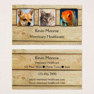 Cartão de visita de madeira rústico personalizado