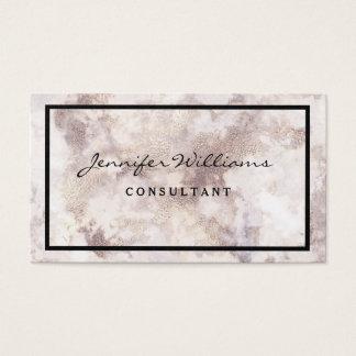 Cartão de visita de mármore branco minimalista