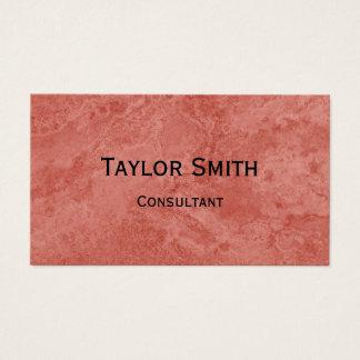 cartão de visita de mármore de pedra vermelho do