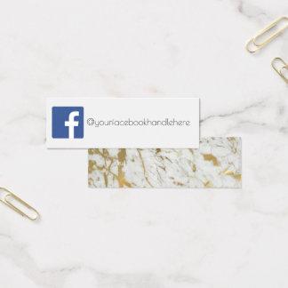 cartão de visita de mármore dos meios sociais do