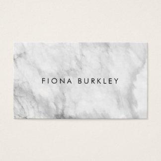 Cartão de visita de mármore minimalista da textura