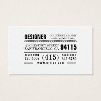 Cartão de visita de múltiplos propósitos artística