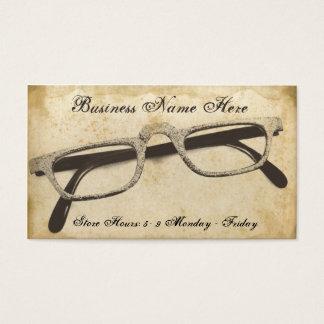 Cartão de visita de papel sujo dos Eyeglasses