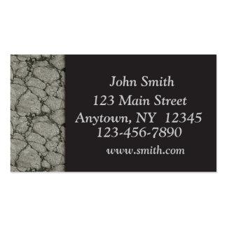 Cartão de visita de pedra da beira