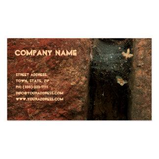 Cartão de visita de pedra do pedreiro da rachadura
